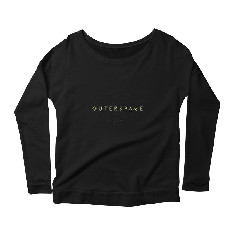 Outerspace Women's Longsleeve Scoopneck  by DOMINATE'S Artist Shop