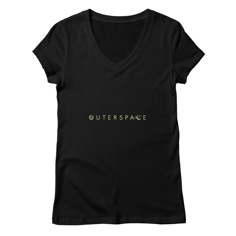 Outerspace Women's V-Neck by DOMINATE'S Artist Shop