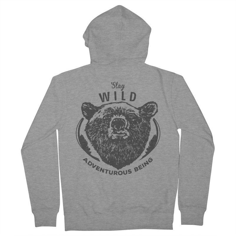 Stay Wild Men's Zip-Up Hoody by DOMINATE'S Artist Shop