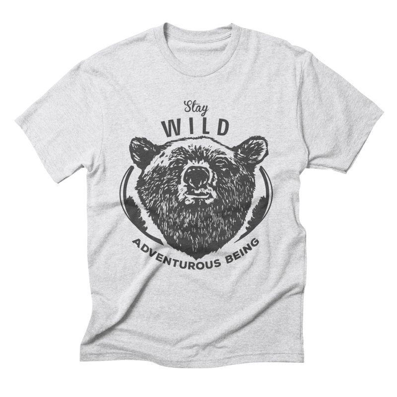 Stay Wild Men's Triblend T-Shirt by DOMINATE'S Artist Shop
