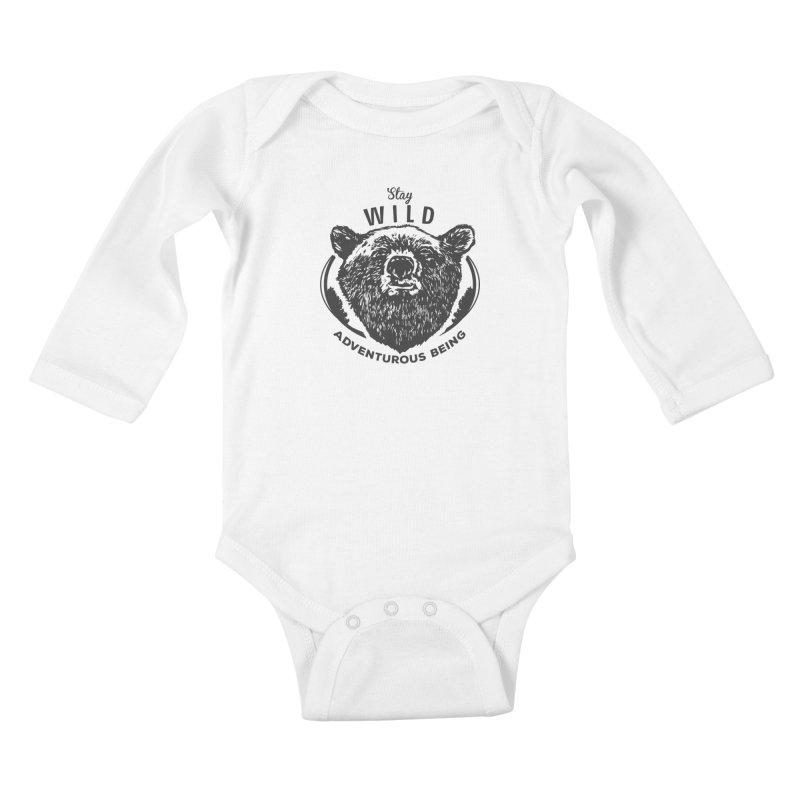 Stay Wild Kids Baby Longsleeve Bodysuit by DOMINATE'S Artist Shop