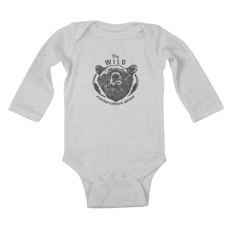 Stay Wild Kids Baby Longsleeve Bodysuit by DOMINATE'S Artist Shop