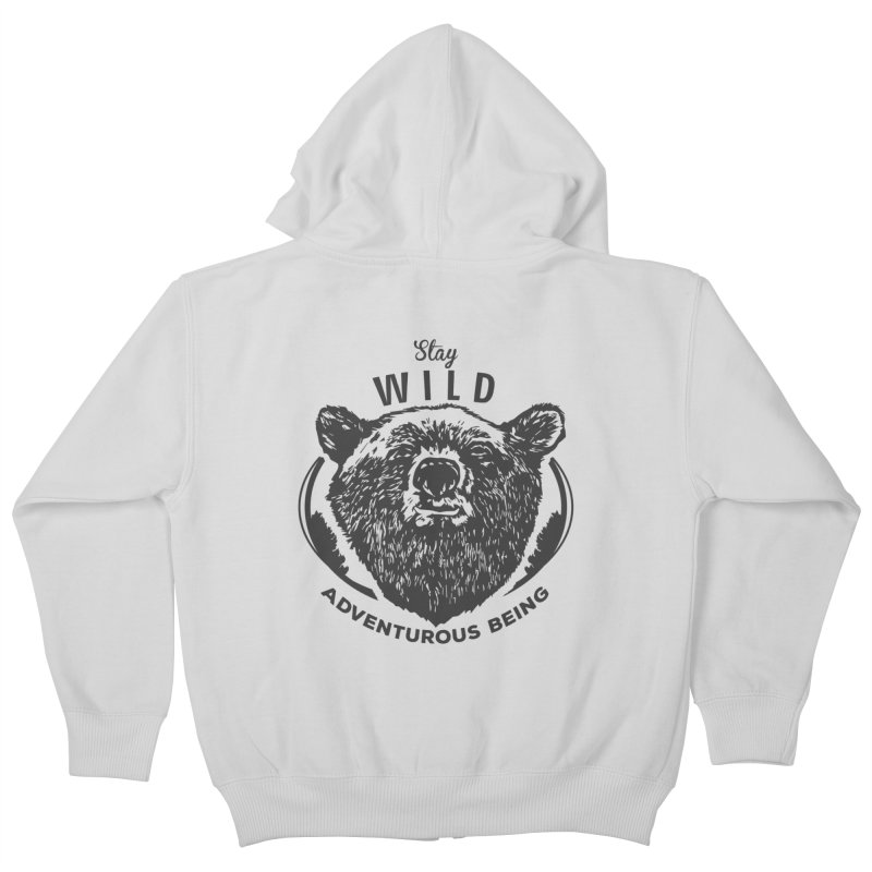 Stay Wild Kids Zip-Up Hoody by DOMINATE'S Artist Shop