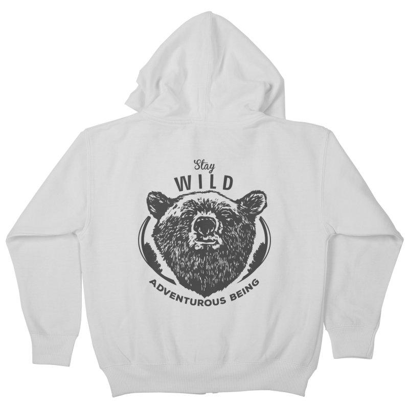 Stay Wild Kids Zip-Up Hoody by DOMINATE'S Artist Shop
