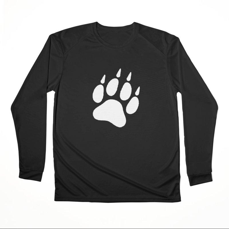 Paw Print Men's Performance Longsleeve T-Shirt by The Dominicator's Domain