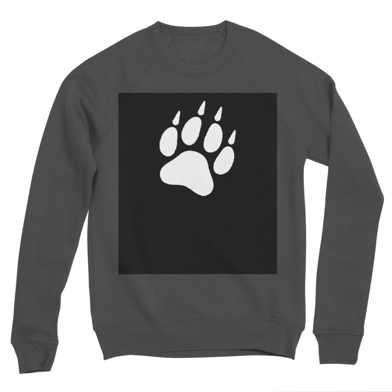 Paw Print Men's Sponge Fleece Sweatshirt by The Dominicator's Domain