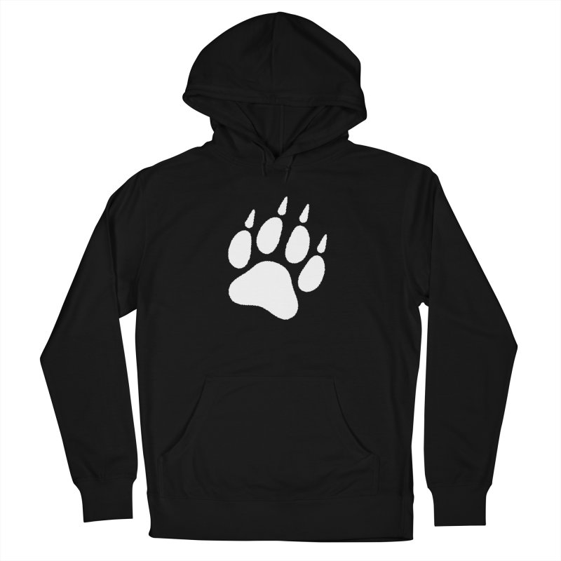 Paw Print Men's French Terry Pullover Hoody by The Dominicator's Domain