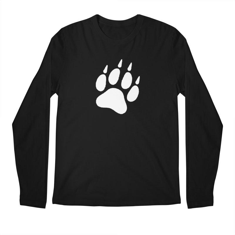 Paw Print Men's Regular Longsleeve T-Shirt by The Dominicator's Domain