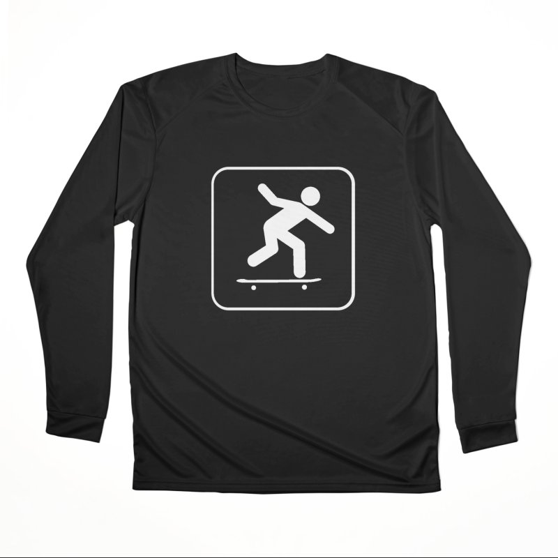 Skateboarder Men's Performance Longsleeve T-Shirt by The Dominicator's Domain