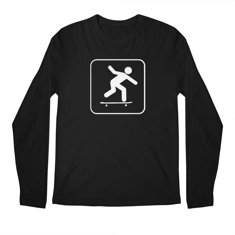 Skateboarder Men's Regular Longsleeve T-Shirt by The Dominicator's Domain