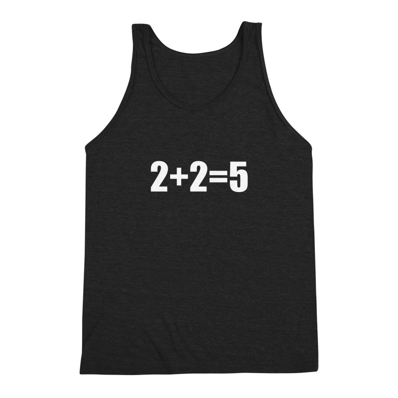2+2=5 Men's Triblend Tank by The Dominicator's Domain