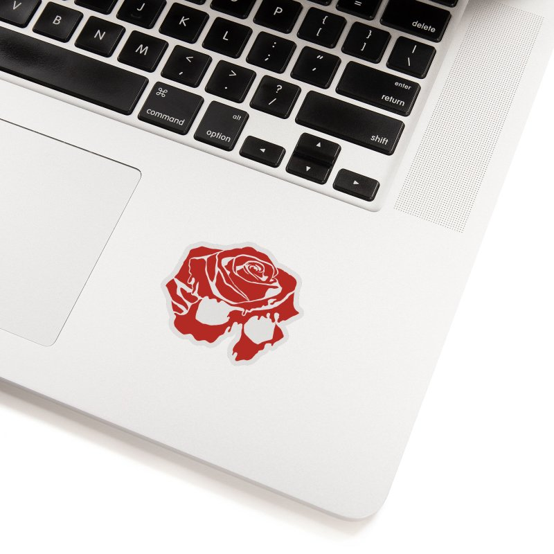 Rose Skull Flat Accessories Sticker by Dommin's Shop