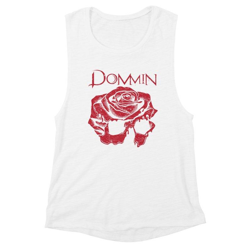 Red Rose Skull Women's Tank by Dommin's Shop