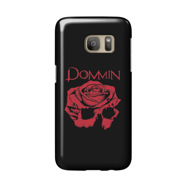 Red Rose Skull Accessories Phone Case by Dommin's Shop