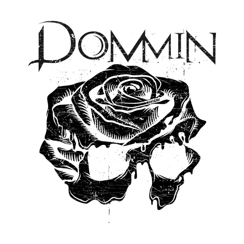 Black Rose Skull Men's Longsleeve T-Shirt by Dommin's Shop