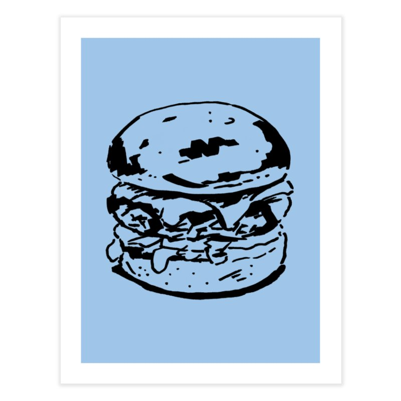 Burger Home Fine Art Print by Donal Mangan's Artist Shop