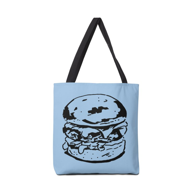 Burger Accessories Tote Bag Bag by Donal Mangan's Artist Shop