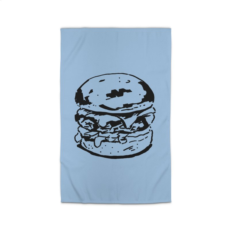 Burger Home Rug by Donal Mangan's Artist Shop