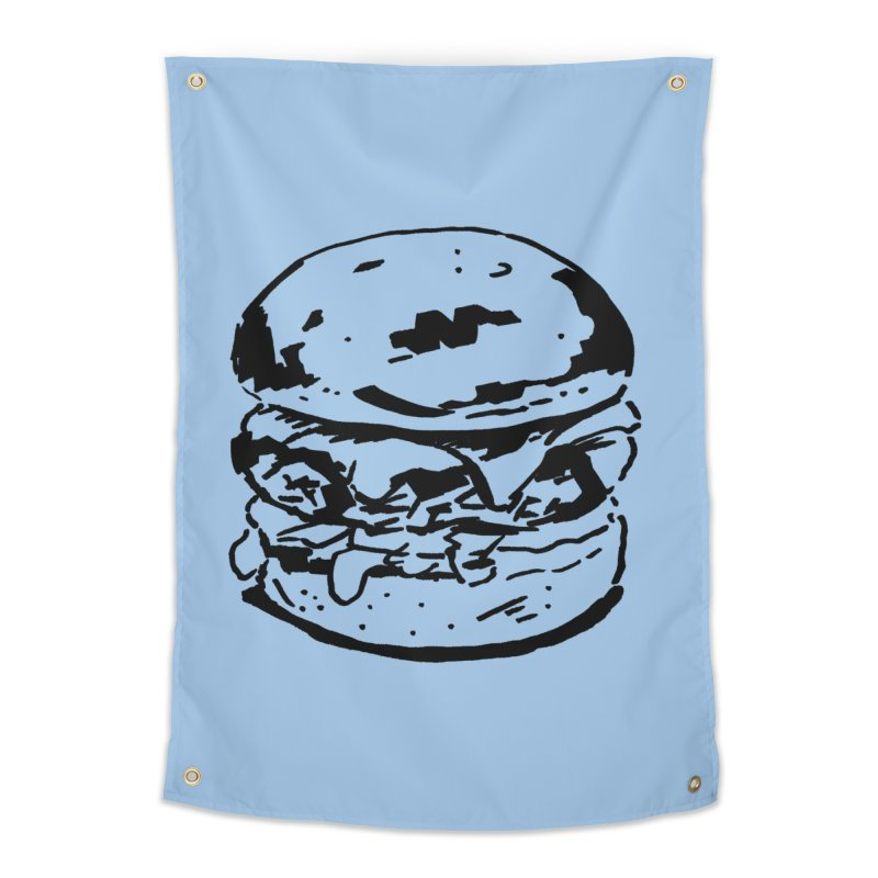 Burger Home Tapestry by Donal Mangan's Artist Shop