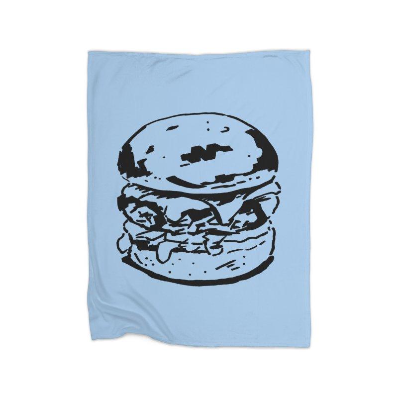 Burger Home Fleece Blanket Blanket by Donal Mangan's Artist Shop