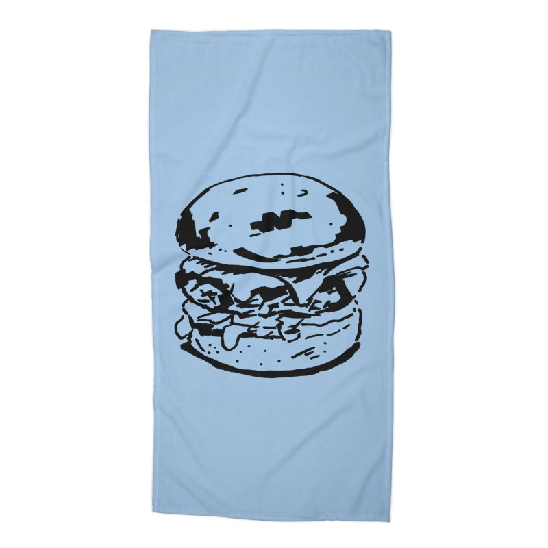 Burger Accessories Beach Towel by Donal Mangan's Artist Shop