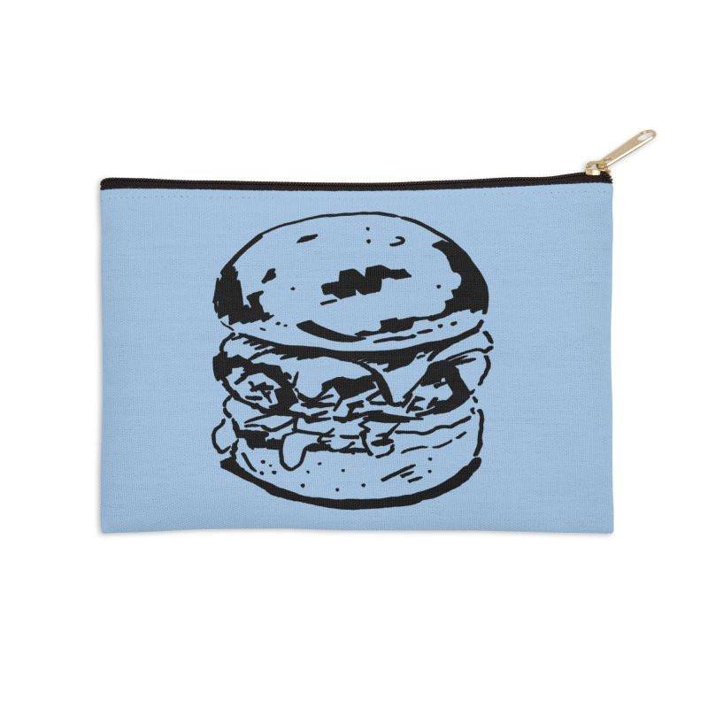 Burger Accessories Zip Pouch by Donal Mangan's Artist Shop