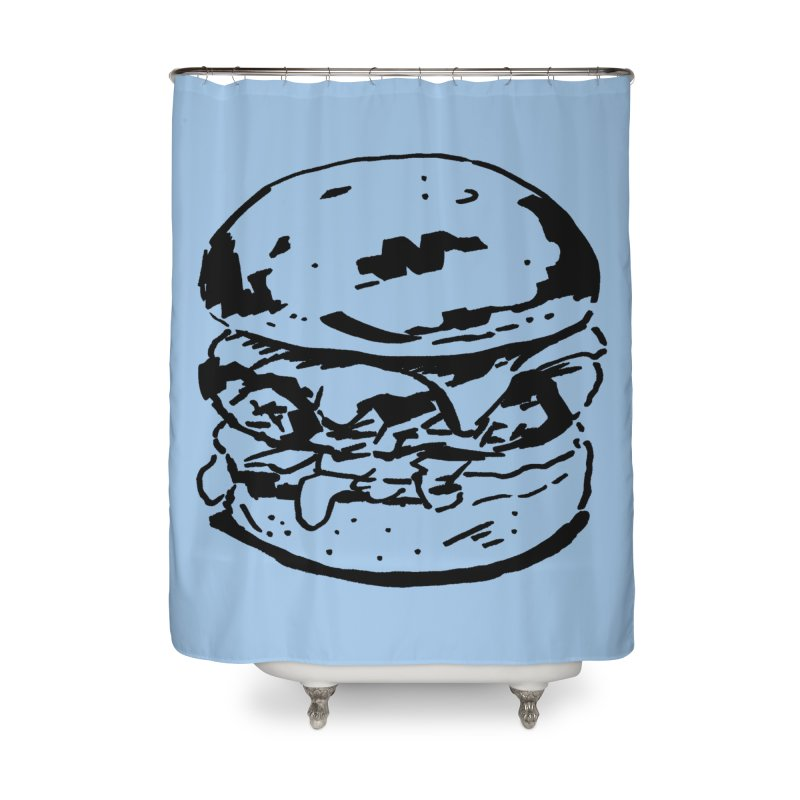 Burger Home Shower Curtain by Donal Mangan's Artist Shop