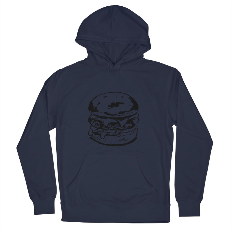 Burger Women's French Terry Pullover Hoody by Donal Mangan's Artist Shop