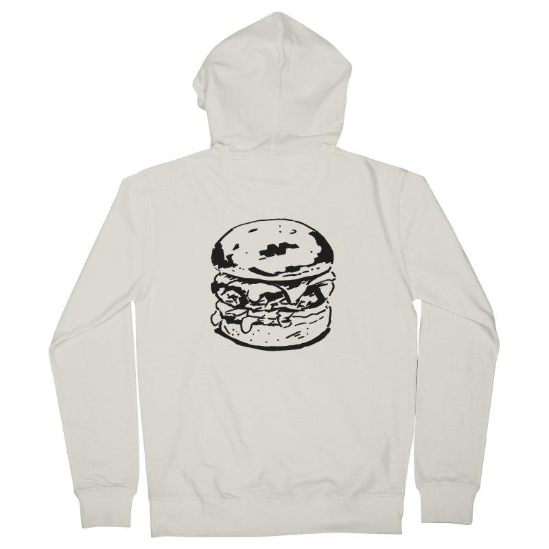 Burger Women's Zip-Up Hoody by Donal Mangan's Artist Shop