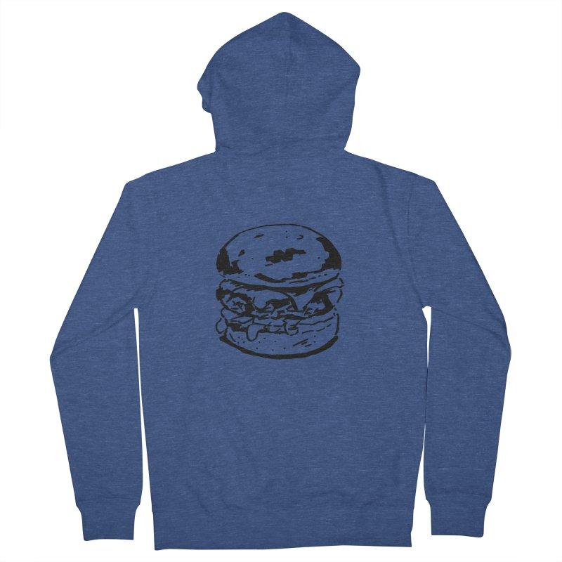 Burger Men's French Terry Zip-Up Hoody by Donal Mangan's Artist Shop