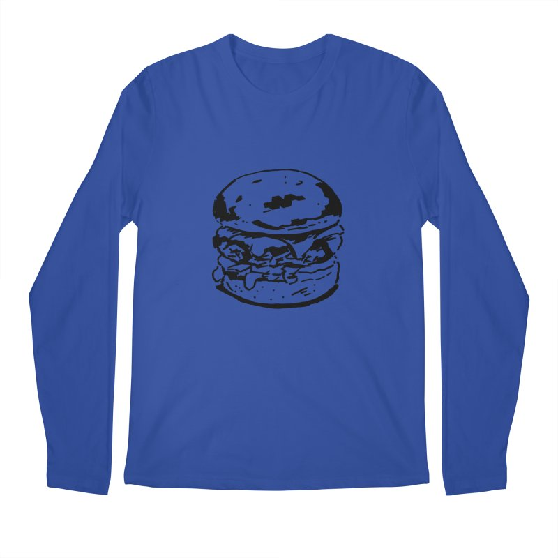 Burger Men's Regular Longsleeve T-Shirt by Donal Mangan's Artist Shop