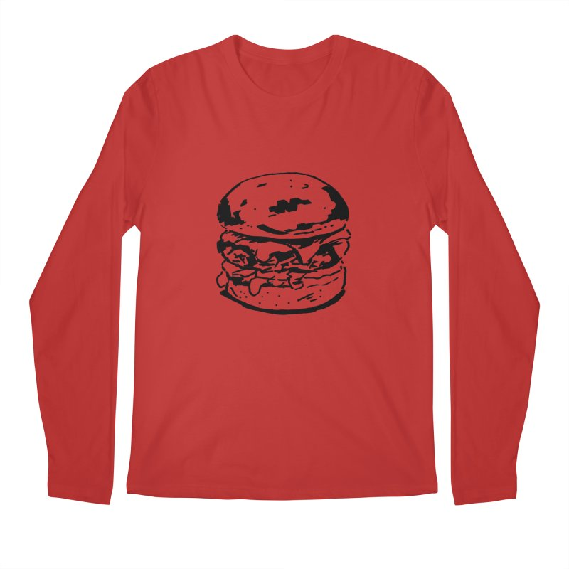 Burger Men's Regular Longsleeve T-Shirt by Donal Mangan's Artist Shop