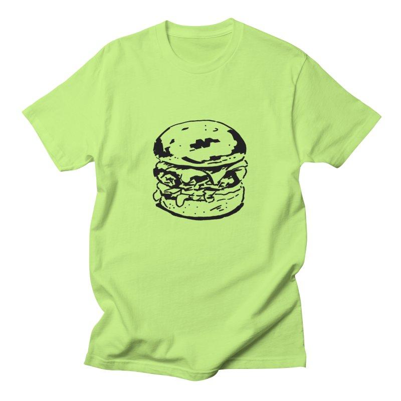 Burger Women's Unisex T-Shirt by Donal Mangan's Artist Shop