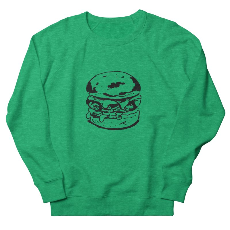 Burger Women's Sweatshirt by Donal Mangan's Artist Shop
