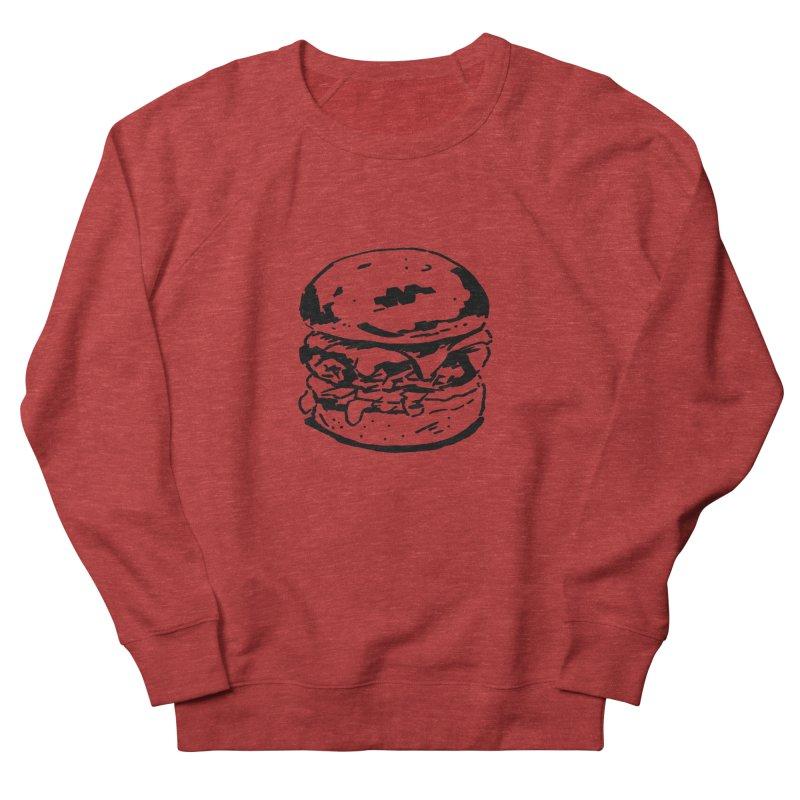 Burger Women's French Terry Sweatshirt by Donal Mangan's Artist Shop