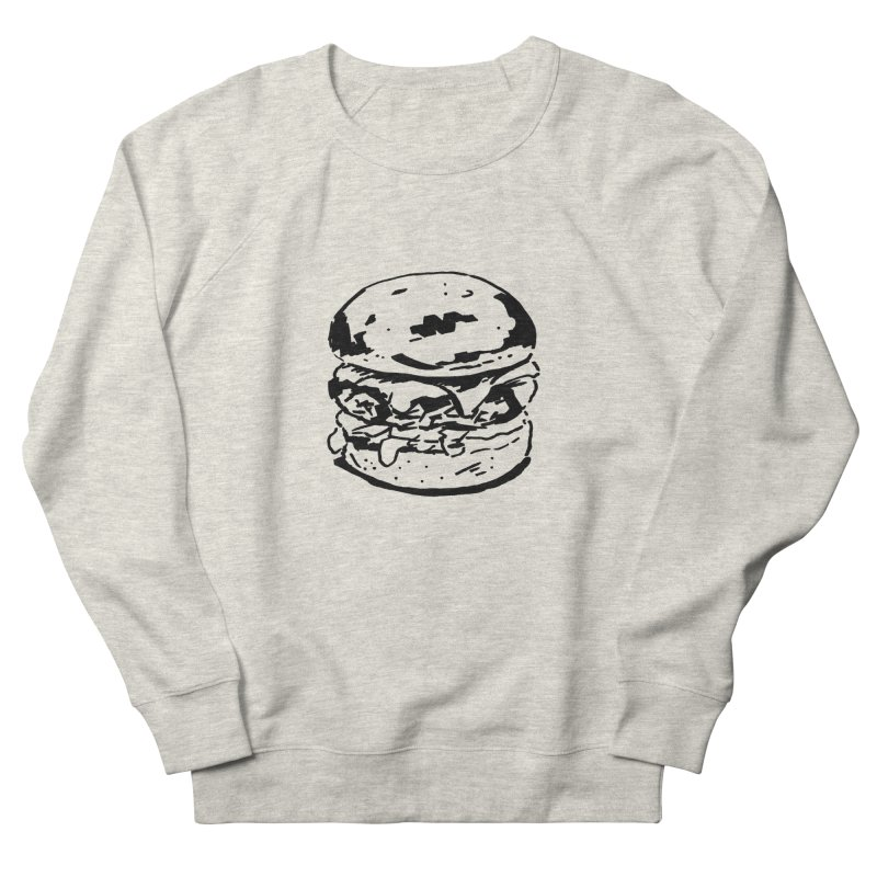 Burger Women's Sweatshirt by Donal Mangan's Artist Shop