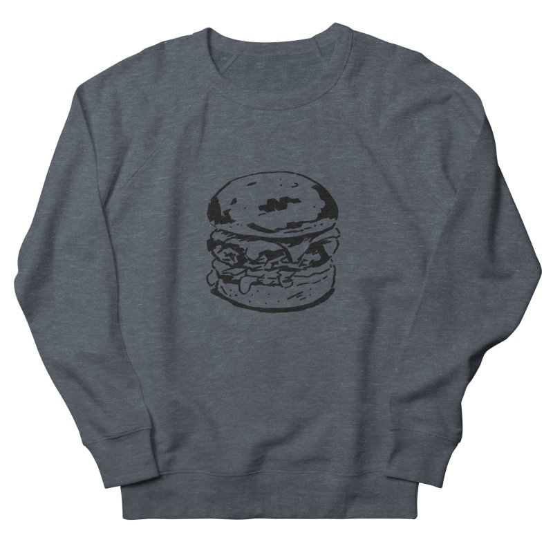Burger Men's French Terry Sweatshirt by Donal Mangan's Artist Shop