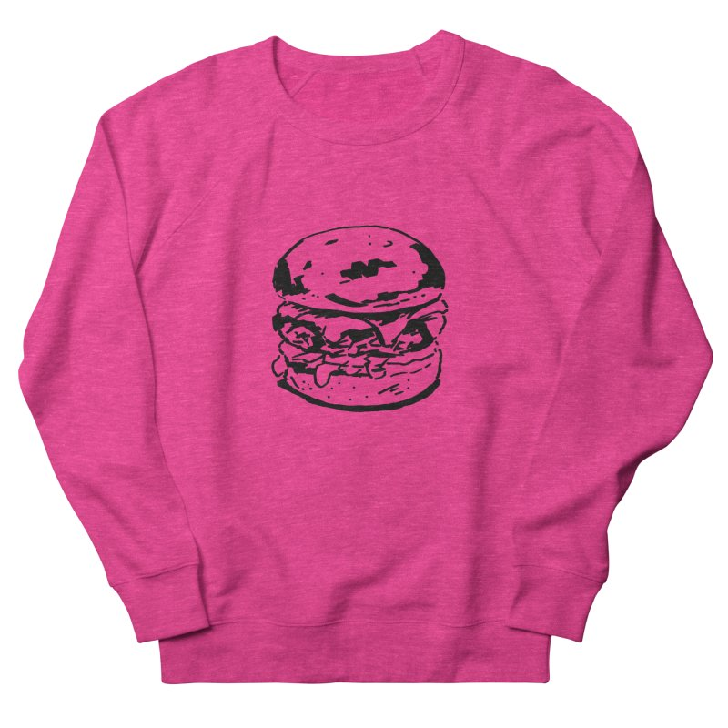 Burger Men's French Terry Sweatshirt by Donal Mangan's Artist Shop