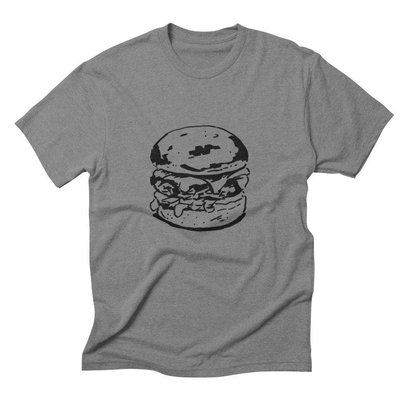 Burger Men's Triblend T-Shirt by Donal Mangan's Artist Shop