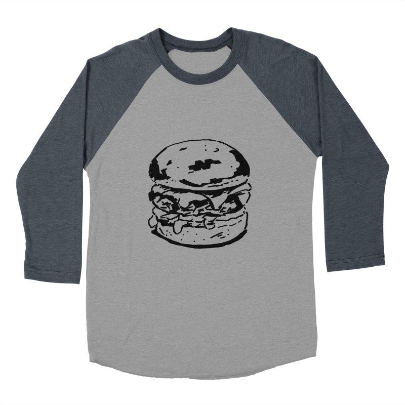 Burger Women's Baseball Triblend Longsleeve T-Shirt by Donal Mangan's Artist Shop