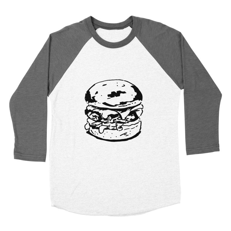 Burger Men's Baseball Triblend T-Shirt by Donal Mangan's Artist Shop