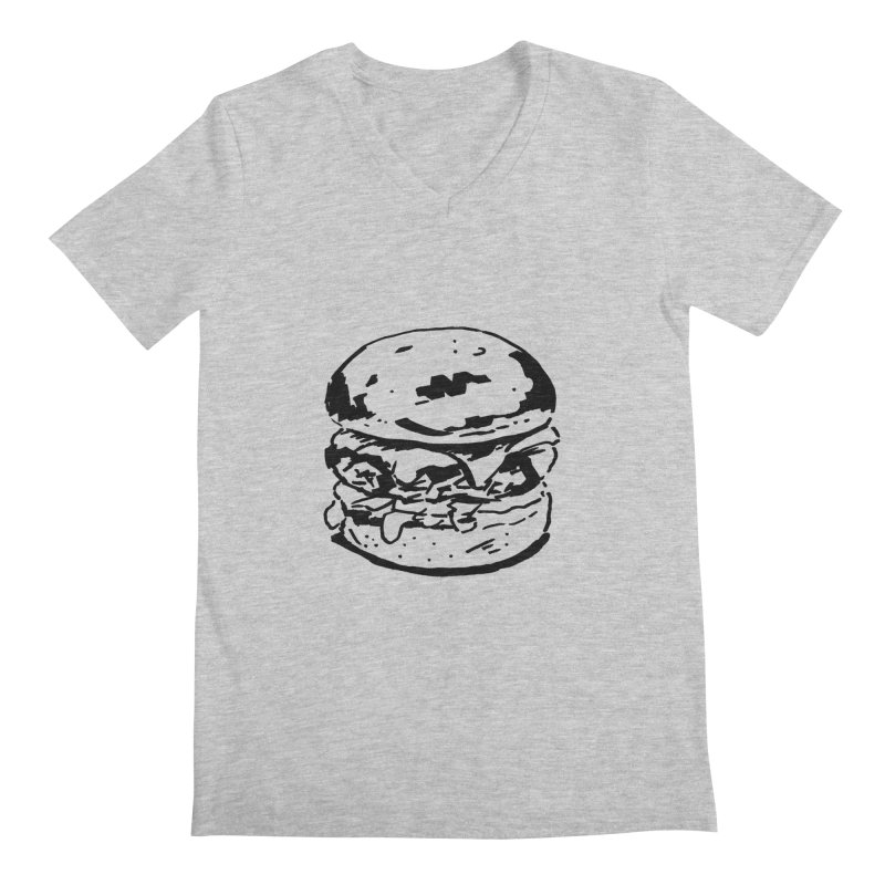 Burger Men's V-Neck by Donal Mangan's Artist Shop