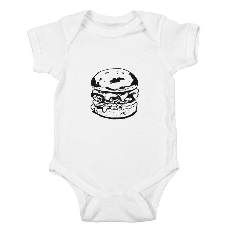 Burger Kids Baby Bodysuit by Donal Mangan's Artist Shop