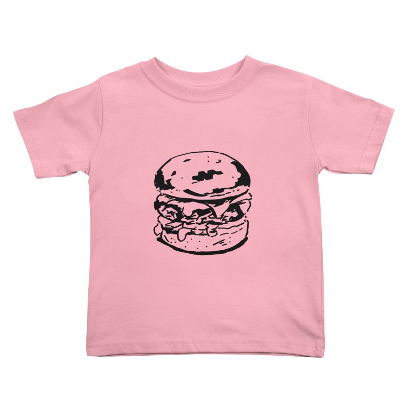 Burger Kids Toddler T-Shirt by Donal Mangan's Artist Shop