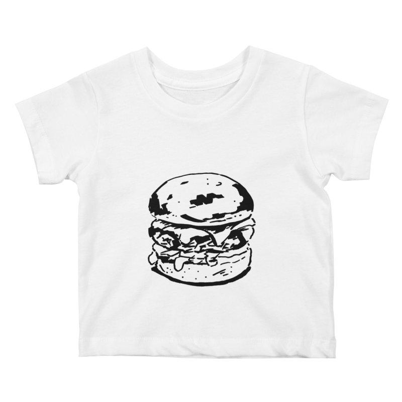 Burger Kids Baby T-Shirt by Donal Mangan's Artist Shop