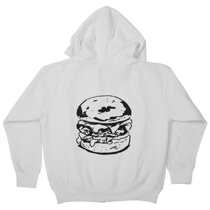 Burger Kids Zip-Up Hoody by Donal Mangan's Artist Shop