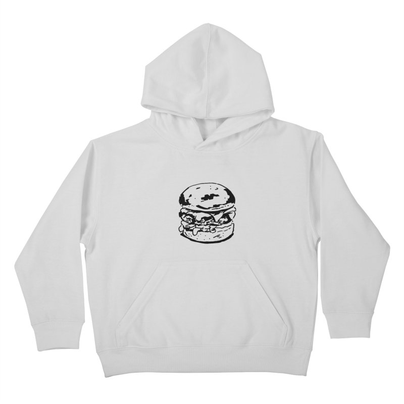 Burger Kids Pullover Hoody by Donal Mangan's Artist Shop