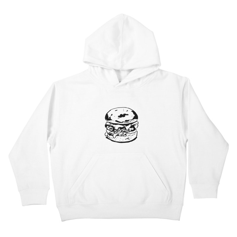 Burger Kids Pullover Hoody by Donal Mangan's Artist Shop