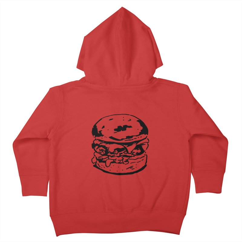 Burger Kids Toddler Zip-Up Hoody by Donal Mangan's Artist Shop