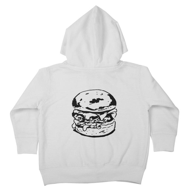 Burger Kids Toddler Zip-Up Hoody by Donal Mangan's Artist Shop